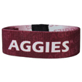 Texas A and M Aggies Stretch Bracelets - Instantly become a team VIP with these colorful wrist bands! These are not your average, cheap stretch bands the stretch fabric and dye sublimation allows the crisp graphics and logo designs to really pop. A must have for any Texas A & M Aggies fan!