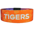 Clemson Tigers Stretch Bracelets - Instantly become a team VIP with these colorful wrist bands! These are not your average, cheap stretch bands the stretch fabric and dye sublimation allows the crisp graphics and logo designs to really pop. A must have for any Clemson Tigers fan!