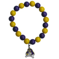 East Carolina Pirates Fan Bead Bracelet