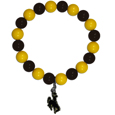 Wyoming Cowboys Fan Bead Bracelet - Flash your Wyoming Cowboys spirit with this bright stretch bracelet. This new bracelet features multicolored team beads on stretch cord with a nickel-free enameled chrome team charm. This bracelet adds the perfect pop of color to your game day accessories.