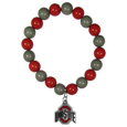 Ohio St. Buckeyes Fan Bead Bracelet - These bright bracelets stretch to fit and feature a full metal team charm with enameled details. Perfect, eye catching game day accessory. Thank you for shopping with CrazedOutSports.com