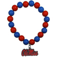 Mississippi Rebels Fan Bead Bracelet - Flash your Mississippi Rebels spirit with this bright stretch bracelet. This new bracelet features multicolored team beads on stretch cord with a nickel-free enameled chrome team charm. This bracelet adds the perfect pop of color to your game day accessories.