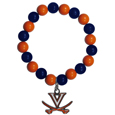 Virginia Cavaliers Fan Bead Bracelet - Flash your Virginia Cavaliers spirit with this bright stretch bracelet. This new bracelet features multicolored team beads on stretch cord with a nickel-free enameled chrome team charm. This bracelet adds the perfect pop of color to your game day accessories.
