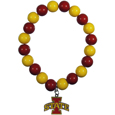 Iowa St. Cyclones Fan Bead Bracelet - Flash your Iowa St. Cyclones spirit with this bright stretch bracelet. This new bracelet features multicolored team beads on stretch cord with a nickel-free enameled chrome team charm. This bracelet adds the perfect pop of color to your game day accessories.