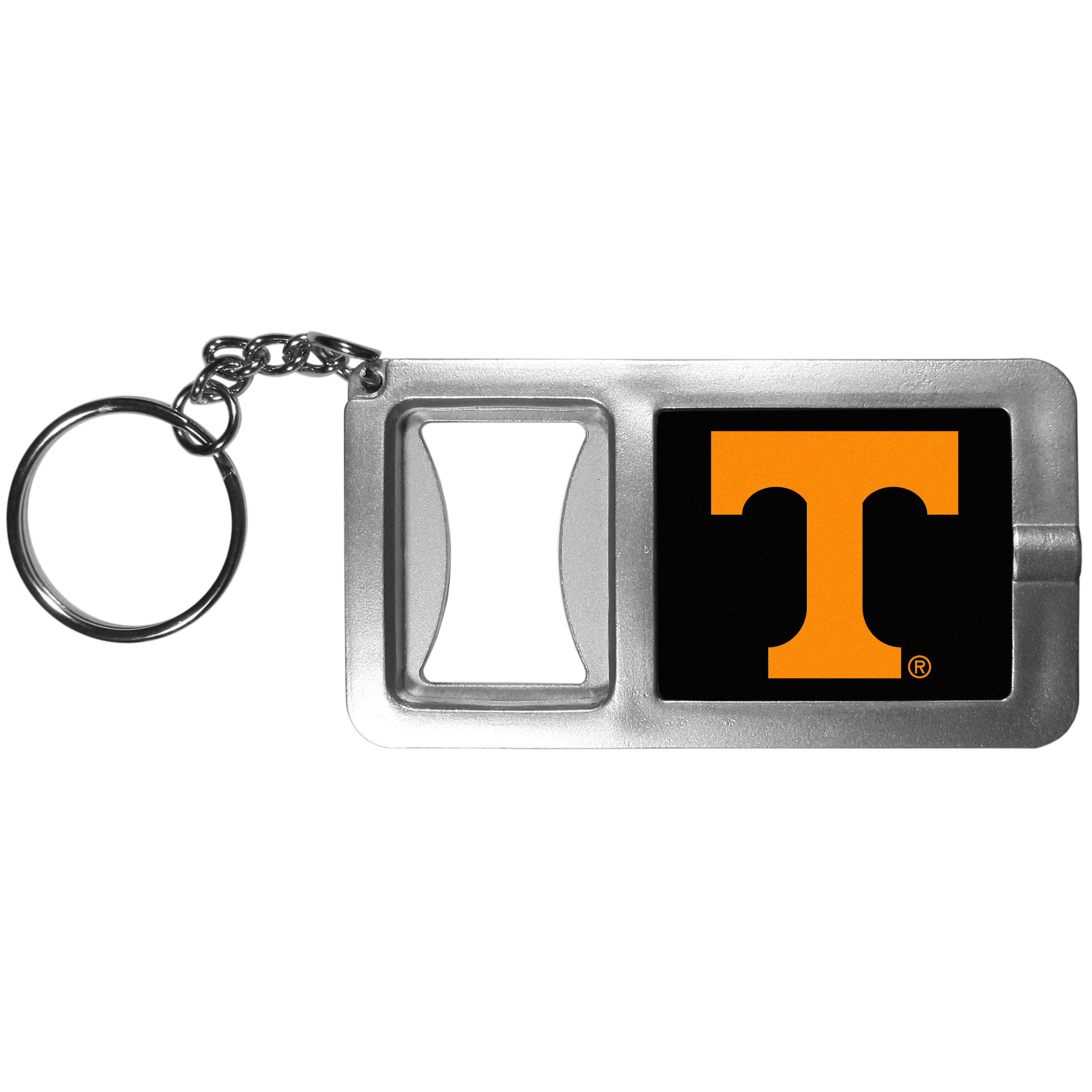 Tennessee Volunteers Flashlight Key Chain with Bottle Opener - Never be without light with our Tennessee Volunteers flashlight keychain that features a handy bottle opener feature. This versatile key chain is perfect for camping and travel and is a great way to show off your team pride!