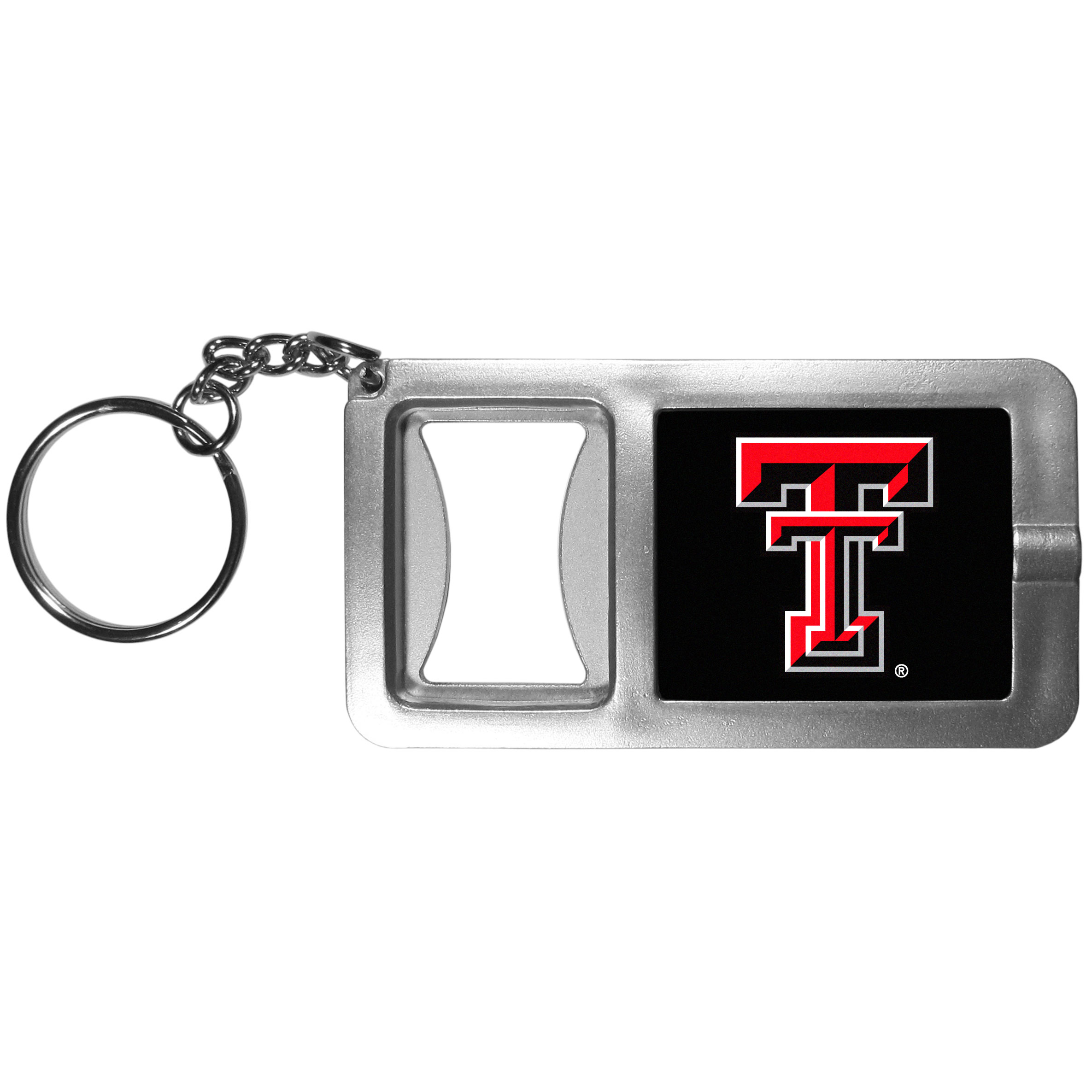 Texas Tech Raiders Flashlight Key Chain with Bottle Opener - Never be without light with our Texas Tech Raiders flashlight keychain that features a handy bottle opener feature. This versatile key chain is perfect for camping and travel and is a great way to show off your team pride!