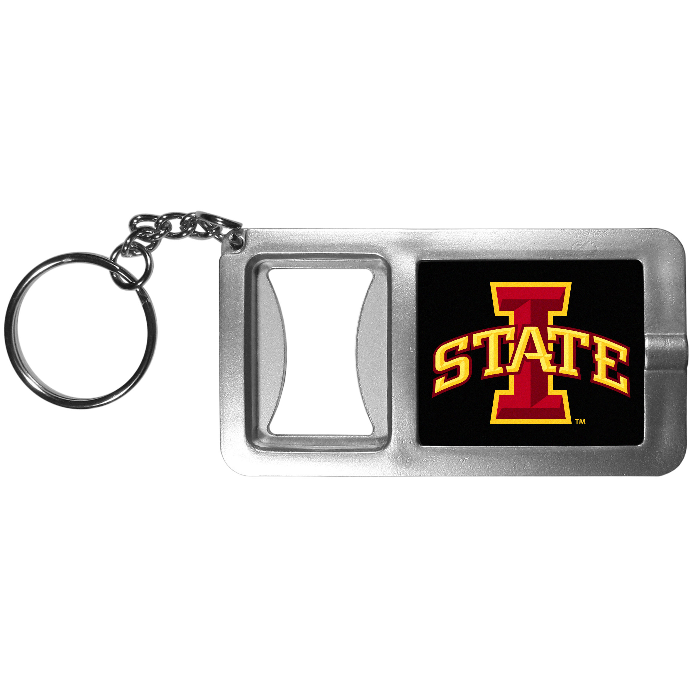 Iowa St. Cyclones Flashlight Key Chain with Bottle Opener