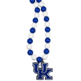 Kentucky Wildcats Fan Bead Necklace - Make a big statement with our bold fan bead necklaces! The 24 inch stretch string is beaded with 66 alternating color beads to make an eye-catching necklace that is finished with a high polish, large Kentucky Wildcats pendant with enameled team colors. This casual and fun piece is a game day must-have! Fans love the trendy style and sassy look of this popular fashion bead style that get noticed even in a sea of fans. A great gift idea for the fan in your life.