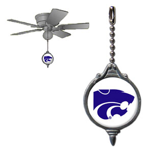 Ceiling Fan Pull - Kansas St. Wildcats - This Kansas St. Wildcats fan pull attaches to the cord of standard ceiling fans and features a school logo on both sides. Thank you for shopping with CrazedOutSports.com