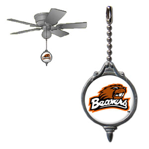 Ceiling Fan Pull - Oregon St. Beavers - Our collegiate fan pull attaches to the cord of standard ceiling fans and features a school logo on both sides. Thank you for shopping with CrazedOutSports.com