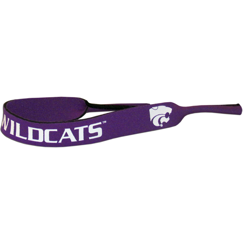 "Kansas St. Wildcats Neoprene Sunglass Strap - Kansas St. Wildcats neoprene sunglass straps are 16"" long and the stretchable tubes fit easily over thin and wide style sunglasses. Thank you for shopping with CrazedOutSports.com"