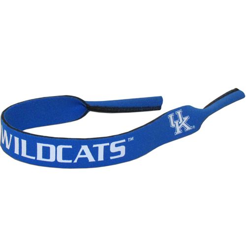 "Kentucky Wildcats Neoprene Sunglass Strap - Our collegiate neoprene sunglass straps are 16"" long and the stretchable tubes fit easily over thin and wide style sunglasses. Thank you for shopping with CrazedOutSports.com"