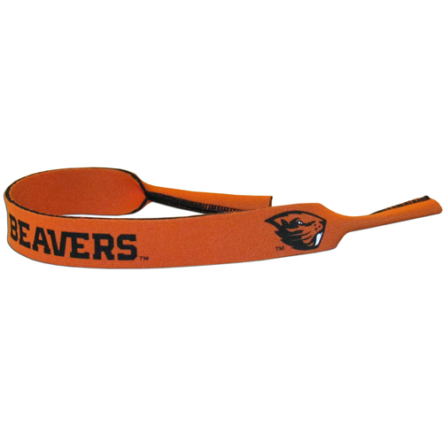 "Oregon St. Beavers Neoprene Sunglass Strap - Our collegiate neoprene sunglass straps are 16"" long and the stretchable tubes fit easily over thin and wide style sunglasses. Thank you for shopping with CrazedOutSports.com"