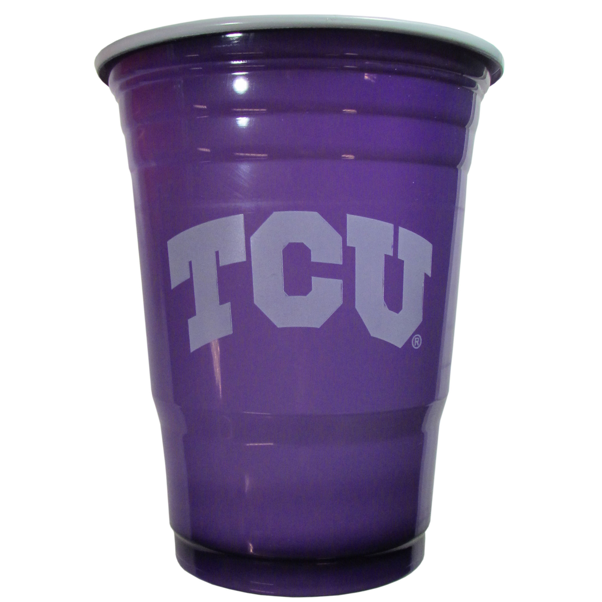 TCU Horned Frogs Plastic Game Day Cups 2 sleeves of 18 (36 Cups) - Our 18 ounce game day cups are what every tailgating or backyard events needs! The cups feature a big TCU Horned Frogs logo so you can show off your team pride. The popular 18 ounce size is perfect for drinks or ping pong balls! 2 sleeves of 18 cups, 36 cups in total.