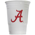 Alabama Crimson Tide Game Day Cups - Our Alabama Crimson Tide collegiate game day cups come in a sleeve of 18 disposable 18 oz plastic cups and feature a silk screened school logo. Thank you for shopping with CrazedOutSports.com