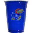 Kansas Jayhawks Game Day Cups - These Kansas Jayhawks game day cups come in a sleeve of 18 disposable 18 oz plastic cups and feature a silk screened school logo. Thank you for shopping with CrazedOutSports.com