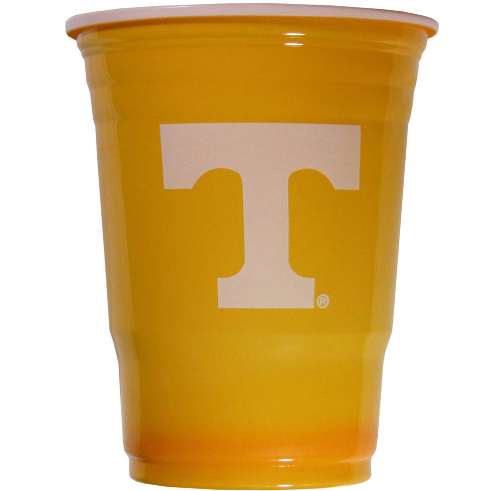 Tennessee Volunteers Plastic Game Day Cups 2 sleeves of 18 (36 Cups) - Our 18 ounce game day cups are what every tailgating or backyard events needs! The cups feature a big Tennessee Volunteers logo so you can show off your team pride. The popular 18 ounce size is perfect for drinks or ping pong balls! 2 sleeves of 18 cups, 36 cups in total.