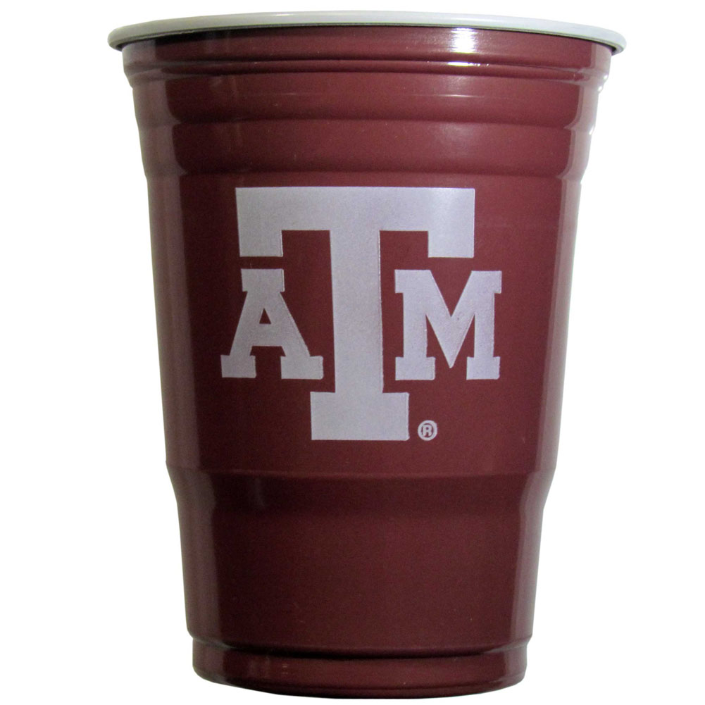Texas A and M Aggies Plastic Game Day Cups 2 sleeves of 18 (36 Cups) - Our 18 ounce game day cups are what every tailgating or backyard events needs! The cups feature a big Texas A & M Aggies logo so you can show off your team pride. The popular 18 ounce size is perfect for drinks or ping pong balls! 2 sleeves of 18 cups, 36 cups in total.