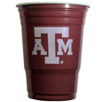 Texas A and M Aggies Game Day Cups - What every tailgating or backyard event needs! Comes in the popular 18 oz size for drinks or ping pong balls! Our collegiate game day cups come in a sleeve of 18 disposable 18 oz plastic cups and feature a silk screened Texas A & M Aggies logo. Thank you for shopping with CrazedOutSports.com