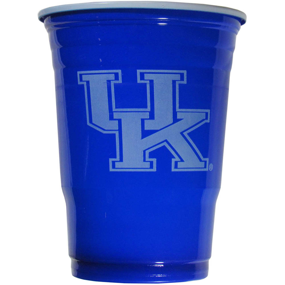 Kentucky Wildcats Plastic Game Day Cups 2 sleeves of 18 (36 Cups) - Our 18 ounce game day cups are what every tailgating or backyard events needs! The cups feature a big Kentucky Wildcats logo so you can show off your team pride. The popular 18 ounce size is perfect for drinks or ping pong balls! 2 sleeves of 18 cups, 36 cups in total.