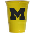 Michigan Wolverines Game Day Cups - These collegiate Michigan Wolverines Game Day Cups come in a sleeve of 18 disposable 18 oz plastic cups. Michigan Wolverines Game Day Cups feature a silk screened school logo. Thank you for shopping with CrazedOutSports.com