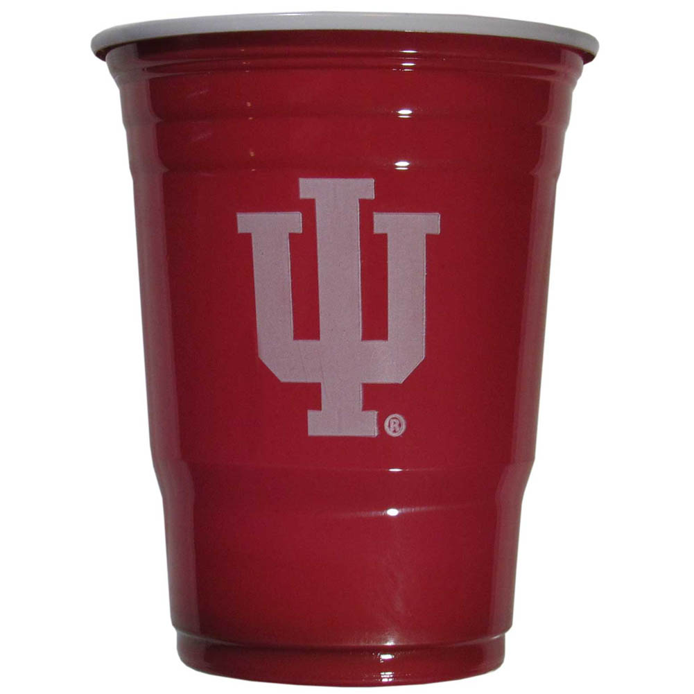Indiana Hoosiers Plastic Game Day Cups 2 sleeves of 18 (36 Cups) - Our 18 ounce game day cups are what every tailgating or backyard events needs! The cups feature a big Indiana Hoosiers logo so you can show off your team pride. The popular 18 ounce size is perfect for drinks or ping pong balls! 2 sleeves of 18 cups, 36 cups in total.