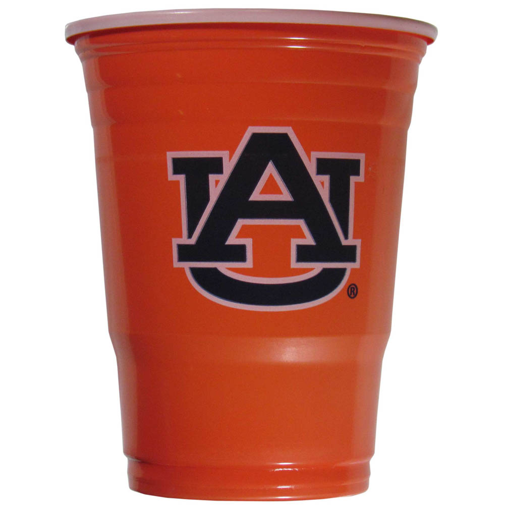 Auburn Tigers Plastic Game Day Cups 2 sleeves of 18 (36 Cups) - Our 18 ounce game day cups are what every tailgating or backyard events needs! The cups feature a big Auburn Tigers logo so you can show off your team pride. The popular 18 ounce size is perfect for drinks or ping pong balls! 2 sleeves of 18 cups, 36 cups in total.