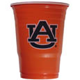 Auburn Tigers Game Day Cups - What every tailgating or backyard event needs! Comes in the popular 18 oz size for drinks or ping pong balls! Our collegiate game day cups come in a sleeve of 18 disposable 18 oz plastic cups and feature a silk screened Auburn Tigers logo. Thank you for shopping with CrazedOutSports.com