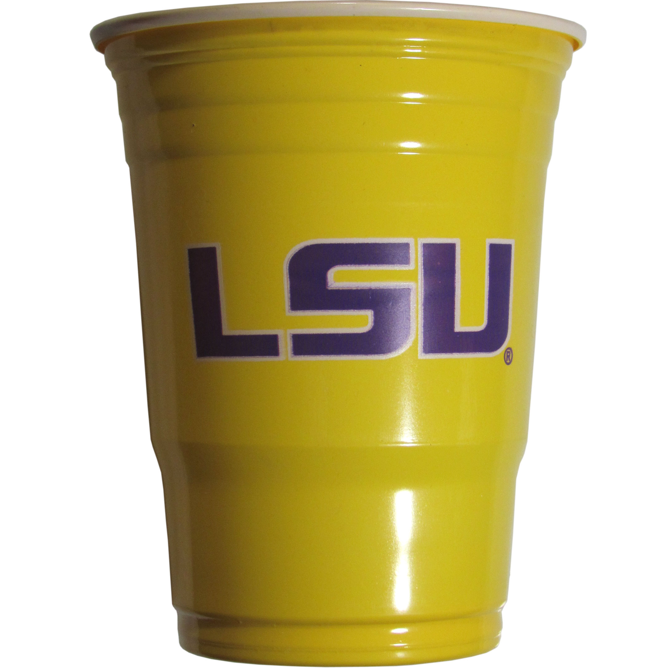 LSU Tigers Plastic Game Day Cups 2 sleeves of 18 (36 Cups) - Our 18 ounce game day cups are what every tailgating or backyard events needs! The cups feature a big LSU Tigers logo so you can show off your team pride. The popular 18 ounce size is perfect for drinks or ping pong balls! 2 sleeves of 18 cups, 36 cups in total.