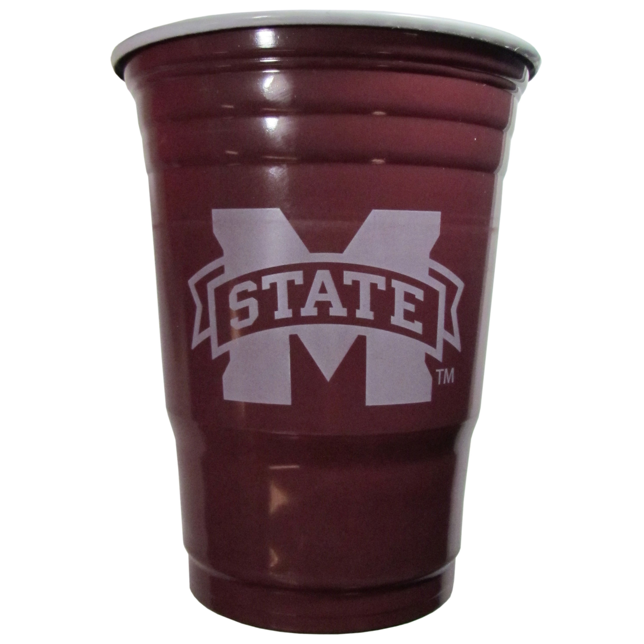Mississippi St. Bulldogs Plastic Game Day Cups - Our 18 ounce game day cups are what every tailgating or backyard events needs! The cups feature a big Mississippi St. Bulldogs logo so you can show off your team pride. The popular 18 ounce size is perfect for drinks or ping pong balls! Sold in sleeves of 18 cups.