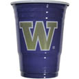 Washington Huskies Game Day Cups - Our collegiate game day cups come in a sleeve of 18 disposable 18 oz plastic cups and feature a silk screened school logo. Thank you for shopping with CrazedOutSports.com