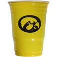 Iowa Hawkeyes Game Day Cups - Our Iowa Hawkeyes collegiate game day cups come in a sleeve of 18 disposable 18 oz plastic cups and feature a silk screened school logo. Thank you for shopping with CrazedOutSports.com