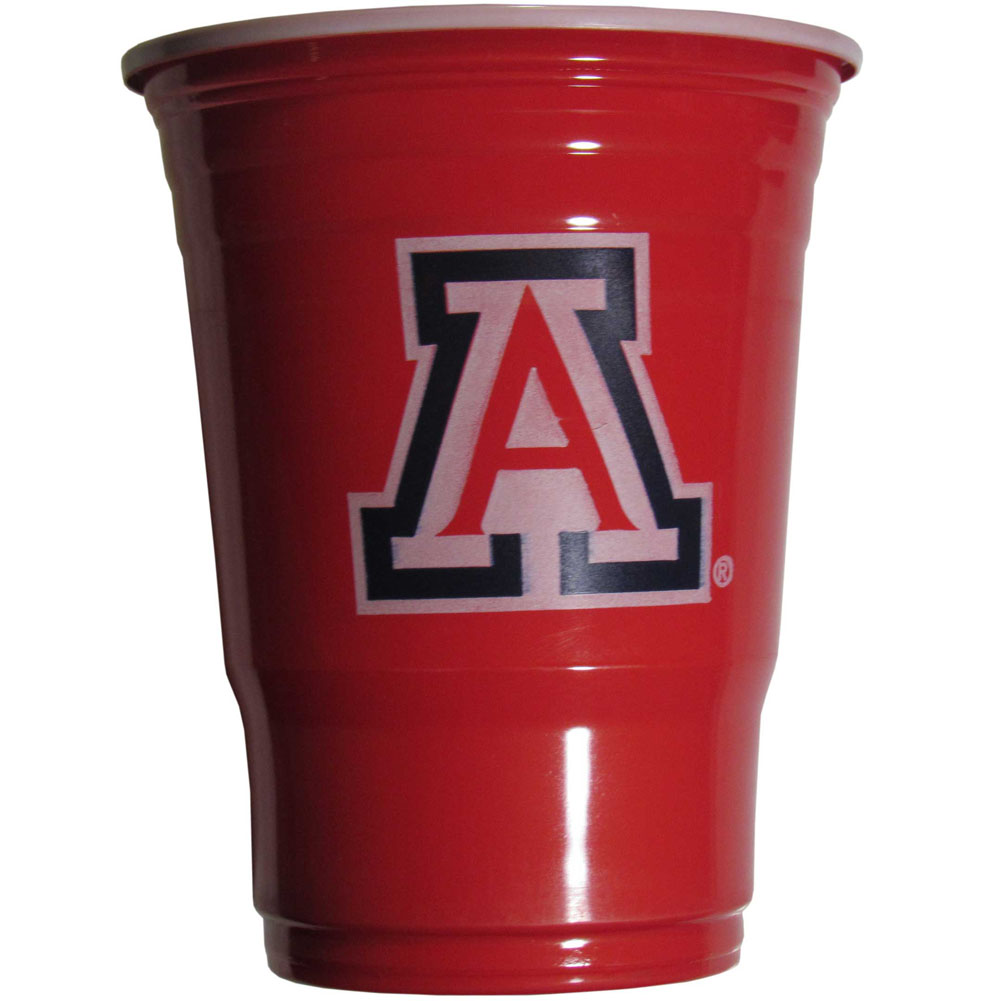 Arizona Wildcats Plastic Game Day Cups 2 sleeves of 18 (36 Cups) - Our 18 ounce game day cups are what every tailgating or backyard events needs! The cups feature a big Arizona Wildcats logo so you can show off your team pride. The popular 18 ounce size is perfect for drinks or ping pong balls! 2 sleeves of 18 cups, 36 cups in total.