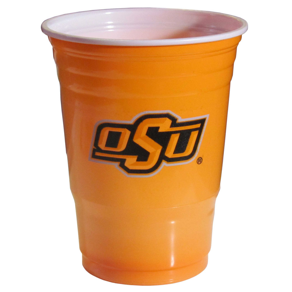 Oklahoma St. Cowboys Plastic Game Day Cups 2 sleeves of 18 (36 Cups) - Our 18 ounce game day cups are what every tailgating or backyard events needs! The cups feature a big Oklahoma St. Cowboys logo so you can show off your team pride. The popular 18 ounce size is perfect for drinks or ping pong balls! 2 sleeves of 18 cups, 36 cups in total.