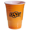 Oklahoma St. Cowboys Game Day Cups - What every tailgating or backyard event needs! Comes in the popular 18 oz size for drinks or ping pong balls! Our collegiate game day cups come in a sleeve of 18 disposable 18 oz plastic cups and feature a silk screened Oklahoma St. Cowboys logo. Thank you for shopping with CrazedOutSports.com