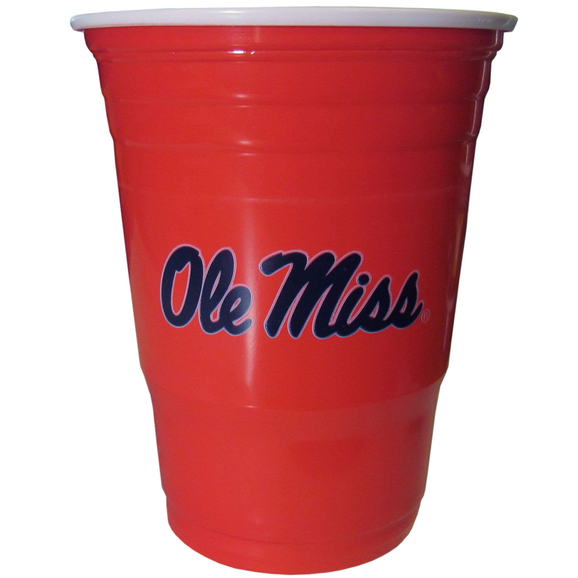 Mississippi Rebels Plastic Game Day Cups 2 sleeves of 18 (36 Cups) - Our 18 ounce game day cups are what every tailgating or backyard events needs! The cups feature a big Mississippi Rebels logo so you can show off your team pride. The popular 18 ounce size is perfect for drinks or ping pong balls! 2 sleeves of 18 cups, 36 cups in total.