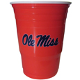 Mississippi Rebels Game Day Cups - Our collegiate game day cups come in a sleeve of 18 disposable 18 oz plastic cups and feature a silk screened school logo. Thank you for shopping with CrazedOutSports.com
