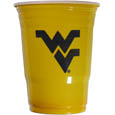 W. Virginia Mountaineers Game Day Cups - Our collegiate game day cups come in a sleeve of 18 disposable 18 oz plastic cups and feature a silk screened school logo. Thank you for shopping with CrazedOutSports.com