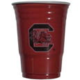 S. Carolina Gamecocks Game Day Cups - Our collegiate game day cups come in a sleeve of 24 disposable 18 oz plastic cups and feature a silk screened school logo. Thank you for shopping with CrazedOutSports.com