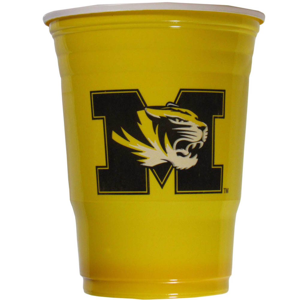 Missouri Tigers Plastic Game Day Cups 2 sleeves of 18 (36 Cups) - Our 18 ounce game day cups are what every tailgating or backyard events needs! The cups feature a big Missouri Tigers logo so you can show off your team pride. The popular 18 ounce size is perfect for drinks or ping pong balls! 2 sleeves of 18 cups, 36 cups in total.
