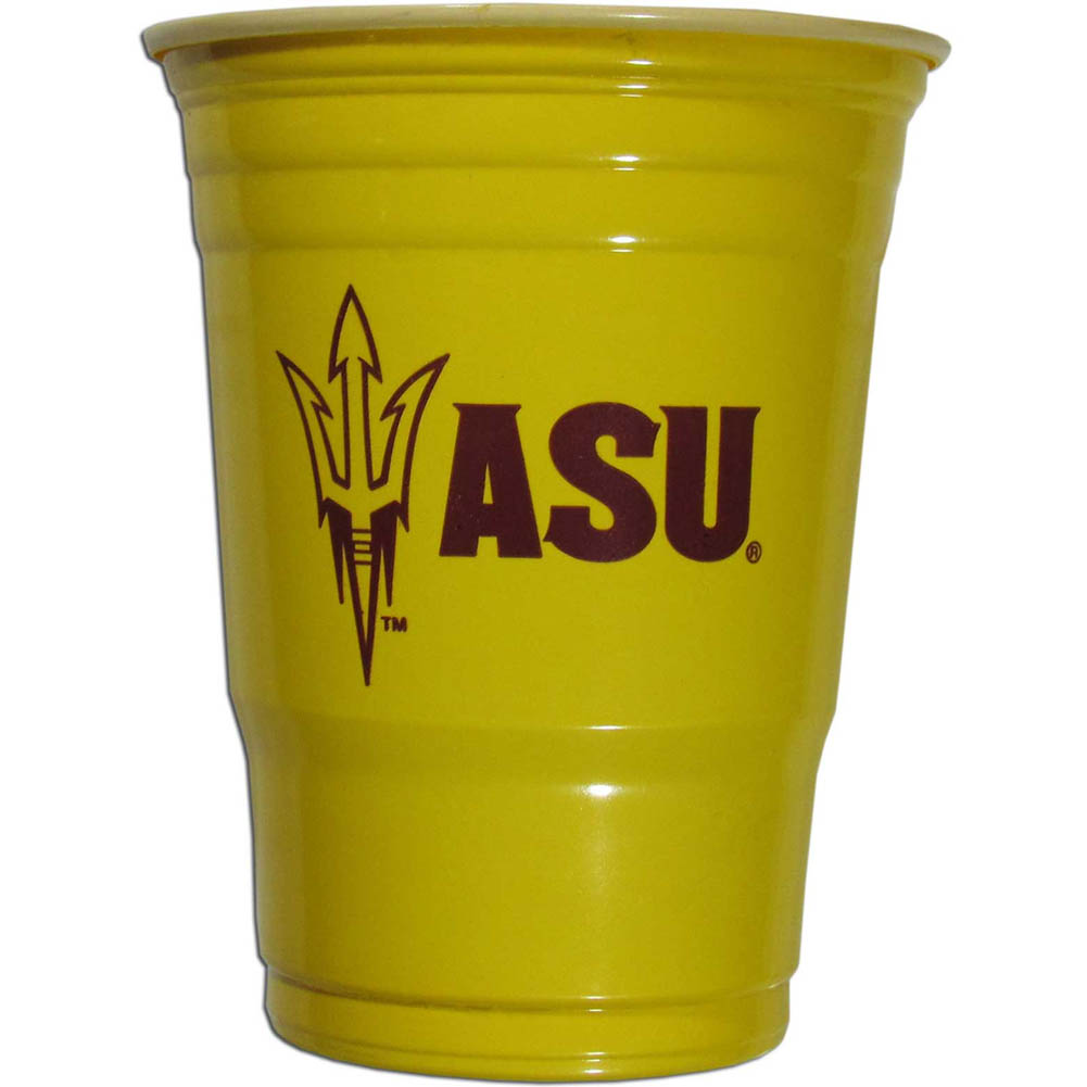 Arizona St. Sun Devils Plastic Game Day Cups 2 sleeves of 18 (36 Cups) - Our 18 ounce game day cups are what every tailgating or backyard events needs! The cups feature a big Arizona St. Sun Devils logo so you can show off your team pride. The popular 18 ounce size is perfect for drinks or ping pong balls! 2 sleeves of 18 cups, 36 cups in total.