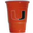 Miami Hurricanes Game Day Cups - Miami Hurricanes Game Day Cups come in a sleeve of 18 disposable 18 oz plastic cups and feature a silk screened school logo. Thank you for shopping with CrazedOutSports.com