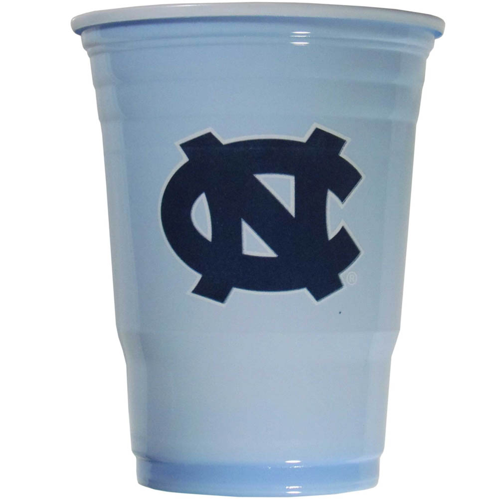 N. Carolina Tar Heels Plastic Game Day Cups 2 sleeves of 18 (36 Cups) - Our 18 ounce game day cups are what every tailgating or backyard events needs! The cups feature a big N. Carolina Tar Heels logo so you can show off your team pride. The popular 18 ounce size is perfect for drinks or ping pong balls! 2 sleeves of 18 cups, 36 cups in total.