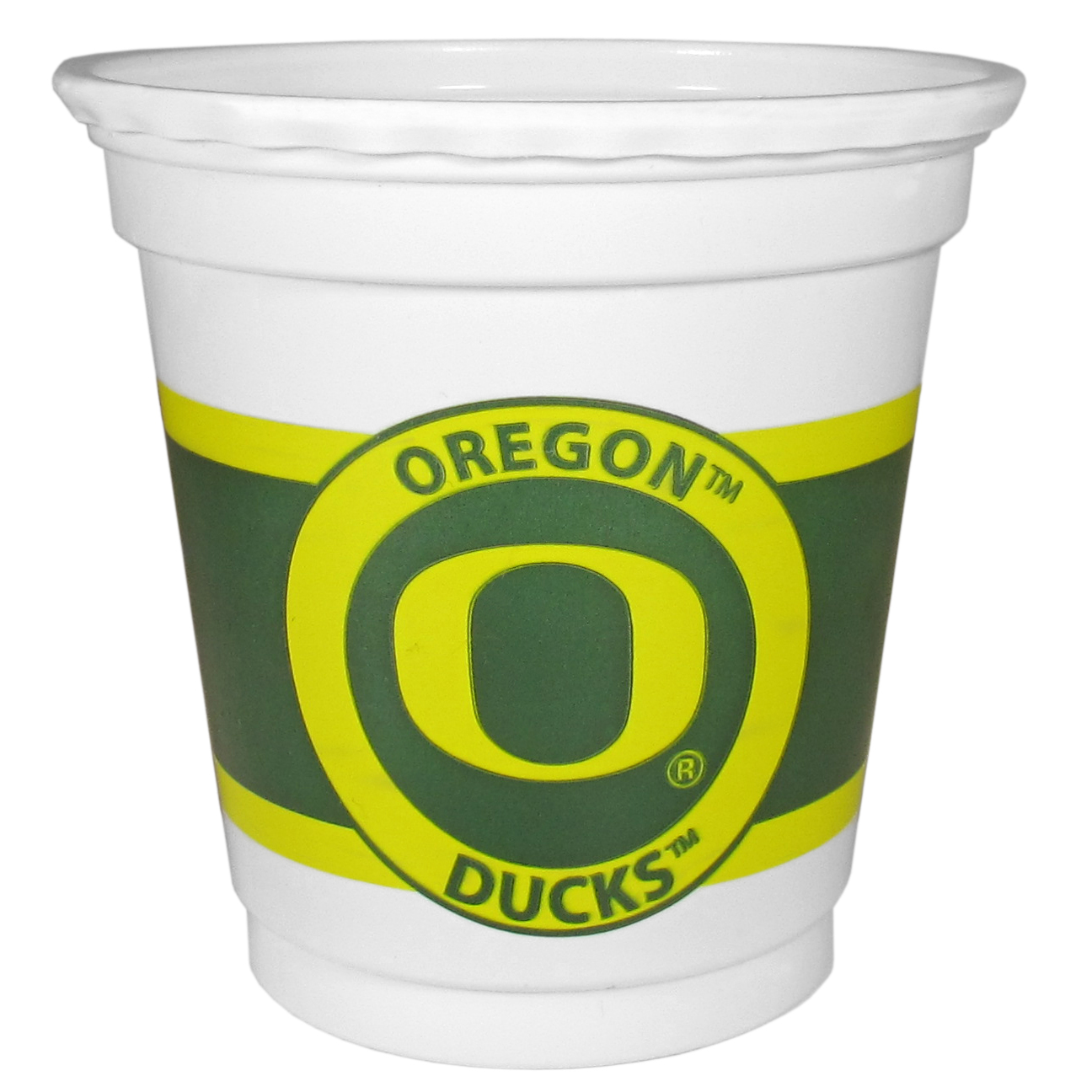 Oregon Ducks 18 Game Day Mini Cups - No better way to show your off your team pride on game day than these Oregon Ducks game day mini cups. The 3 ounce disposable glasses are the perfect addition to your game day party or tailgating BBQ. The cups come in a sleeve of 18 to make sure everyone is sporting true team spirit!