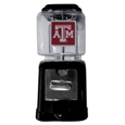 Texas A & M Aggies Black Gumball/Candy Machine - Craving something sweet? Then just reach for your very own Texas A & M Aggies gumball machine! This fun gumball machine accepts nickels, dimes or quarters and can be set for free dispensing. The glass globe is 4 inches wide and tall and can be used for any gumballs or candy that is less than 1/2 inch. The cast metal base is sturdy and features a chrome metal coin receptacle and turn handle. The classic novelty item is perfect for your desk at work, dorm room or game room.