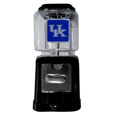 Kentucky Wildcats Black Gumball/Candy Machine - Craving something sweet? Then just reach for your very own Kentucky Wildcats gumball machine! This fun gumball machine accepts nickels, dimes or quarters and can be set for free dispensing. The glass globe is 4 inches wide and tall and can be used for any gumballs or candy that is less than 1/2 inch. The cast metal base is sturdy and features a chrome metal coin receptacle and turn handle. The classic novelty item is perfect for your desk at work, dorm room or game room.