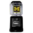 Michigan Wolverines Black Gumball and Candy Machine - Craving something sweet? Then just reach for your very own Michigan Wolverines Black Gumball and Candy Machine! This Michigan Wolverines Black Gumball and Candy Machine accepts nickels, dimes or quarters and can be set for free dispensing. The Michigan Wolverines Black Gumball and Candy Machines glass globe is 4 inches wide and tall and can be used for any gumballs or candy that is less than 1/2 inch. The Michigan Wolverines Black Gumball and Candy Machines cast metal base is sturdy and features a chrome metal coin receptacle and turn handle. The classic novelty Michigan Wolverines Black Gumball and Candy Machine is perfect for your desk at work, dorm room or game room.