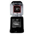 Georgia Bulldogs Black Gumball/Candy Machine - Craving something sweet? Then just reach for your very own Georgia Bulldogs gumball machine! This fun gumball machine accepts nickels, dimes or quarters and can be set for free dispensing. The glass globe is 4 inches wide and tall and can be used for any gumballs or candy that is less than 1/2 inch. The cast metal base is sturdy and features a chrome metal coin receptacle and turn handle. The classic novelty Georgia Bulldogs Black Gumball/Candy Machine is perfect for your desk at work, dorm room or game room.