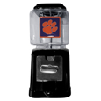 Clemson Tigers Black Gumball/Candy Machine - Craving something sweet? Then just reach for your very own Clemson Tigers gumball machine! This fun gumball machine accepts nickels, dimes or quarters and can be set for free dispensing. The glass globe is 4 inches wide and tall and can be used for any gumballs or candy that is less than 1/2 inch. The cast metal base is sturdy and features a chrome metal coin receptacle and turn handle. The classic novelty item is perfect for your desk at work, dorm room or game room.