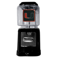 Miami Hurricanes Black Gumball/Candy Machine - Craving something sweet? Then just reach for your very own Miami Hurricanes gumball machine! This fun Miami Hurricanes Black Gumball/Candy Machine accepts nickels, dimes or quarters and can be set for free dispensing. The Miami Hurricanes Black Gumball/Candy Machines glass globe is 4 inches wide and tall and can be used for any gumballs or candy that is less than 1/2 inch. The cast metal base is sturdy and features a chrome metal coin receptacle and turn handle. The classic novelty item is perfect for your desk at work, dorm room or game room.